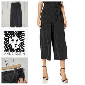 Anne Klein paperbag waist cropped wide leg trouser